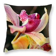 Rocking Chair Orchid Throw Pillow