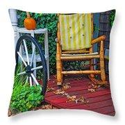 Rocking In Autumn Throw Pillow