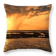 Rockpool Sunset Throw Pillow