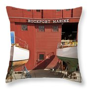 Rockport Marine Throw Pillow