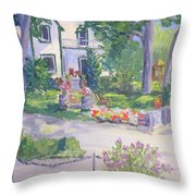 Rockport Ontario Old Andress Boatworks House Throw Pillow