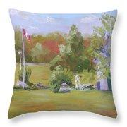 Rockport Ontario Pond Fountain Throw Pillow
