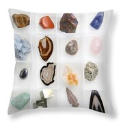 Rocks And Minerals Throw Pillow