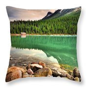 Rocks And Reflections Throw Pillow