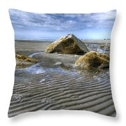 Rocks And Sand Throw Pillow