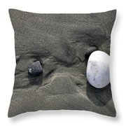 Rocks And Sand  Throw Pillow