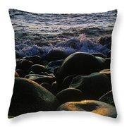 Rocks At The Coast, Giants Causeway Throw Pillow