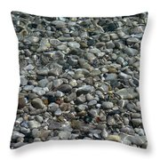 Rocks In Shallow Water Throw Pillow
