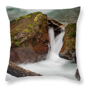 Rocks Of Avalanche Gorge Throw Pillow