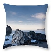 Rocks Of Dry Lagoon Throw Pillow
