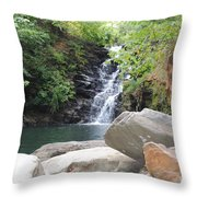 Rocks Of The Falls Throw Pillow