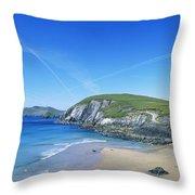 Rocks On The Beach, Coumeenoole Beach Throw Pillow