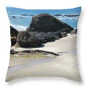 Rocks On The Oregon Coast Throw Pillow