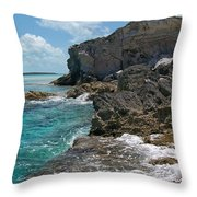 Rocky Barrier Island Throw Pillow