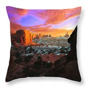 Rocky Buttes Viewed Through Canyon Throw Pillow