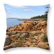 Rocky Coast Of Maine Throw Pillow