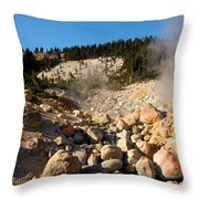 Rocky Fumarole Throw Pillow