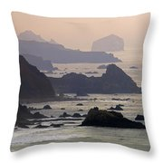 Rocky Headlands On The Big Sur Coast Throw Pillow
