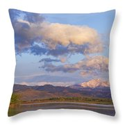 Rocky Mountain Early Morning View Throw Pillow