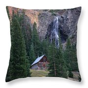 Rocky Mountain Hideaway Throw Pillow