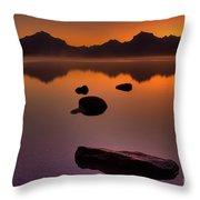 Rocky Mountain Magic-six-fiftyone Am Throw Pillow