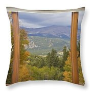 Rocky Mountain Picture Window Scenic View Throw Pillow
