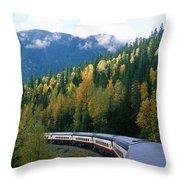Rocky Mountain Rail Tours, Jasper Throw Pillow