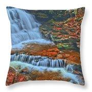 Rocky Pool Falls Throw Pillow