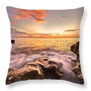 Rocky Surf Throw Pillow