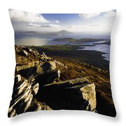 Rocky Vista Of Shoreline Throw Pillow