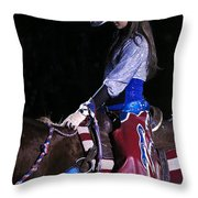 Rodeo Cowgirl Throw Pillow