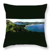 Rodney Bay St. Lucia Throw Pillow