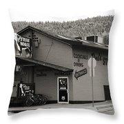 Rod's Steak House Throw Pillow