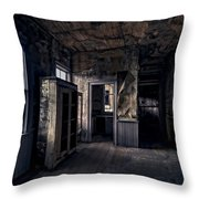 Roe - Graves House Kitchen Of Bannack Ghost Town - Montana Throw Pillow
