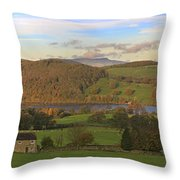 Roe House Overlooks Ullswater Near Pooley Bridge In The Lake District Throw Pillow