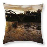 Rogue River Sunset Throw Pillow