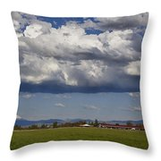 Rogue Valley Red Roof Farm Throw Pillow