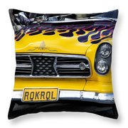 Roknrol Throw Pillow