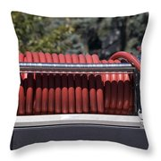 Rolled Fire Hose Throw Pillow