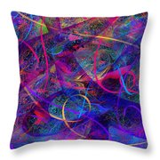 Roller Coaster Throw Pillow by Rachel Christine Nowicki