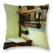 Rollers For Printmaking Throw Pillow