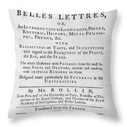 Rollin: Title Page, 1769 Throw Pillow