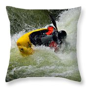 Rolling Down The River  Throw Pillow
