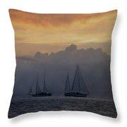 Rolling Fog Bank - Key West Throw Pillow
