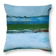 Rolling On The Blue II Throw Pillow