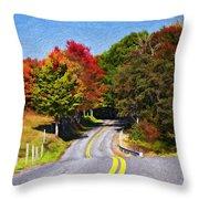Rolling Thru West Virginia Impasto Throw Pillow