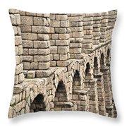 Roman Aqueduct Segovia Throw Pillow
