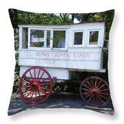 Roman Candy Wagon Throw Pillow