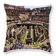 Roman Coleseum Interior Throw Pillow