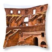 Roman Coliseum Interior Throw Pillow